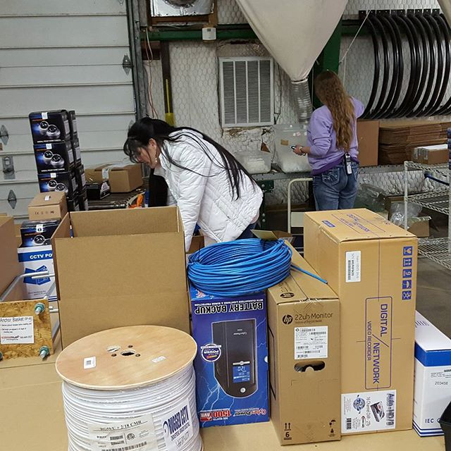 12142577 624899677677691 1936879961 n - Sales Engineers triple checking orders before they are shipped out. Rugged Cams takes pride in shipping most Custom-Designed orders within 24 hours - and making sure that each order has all the correct items.