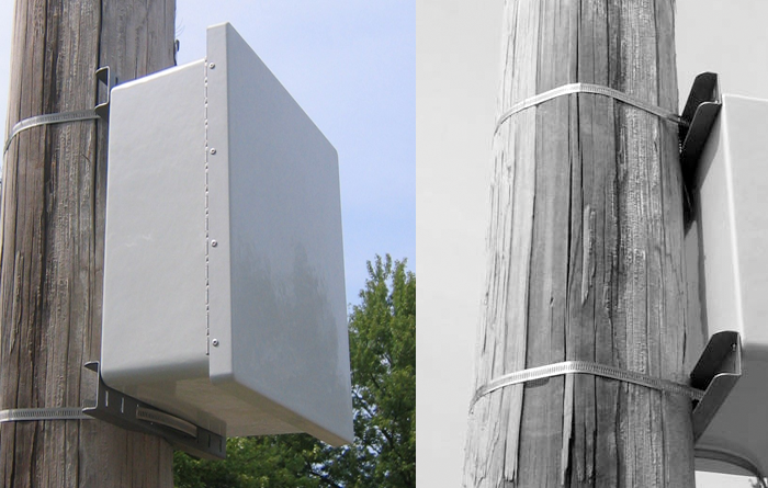 pole mount kit installed - Rugged Vision-III Outdoor DVR