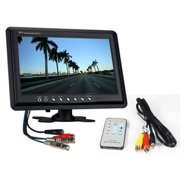 "9 inch 2 channel monitor 600x600 - 9"" LCD 2 channel CCTV Monitor"