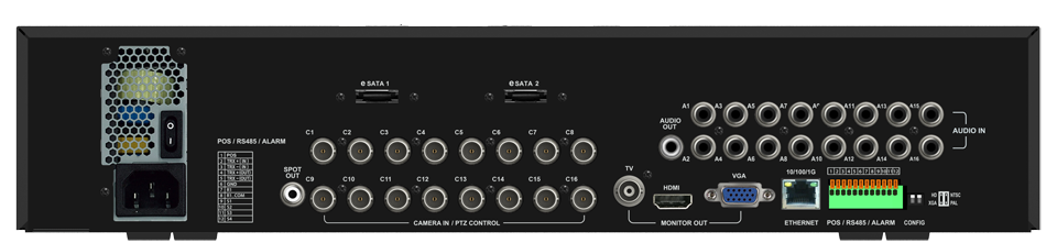 auto hd Rear large - HD-TVI / 960H DVR