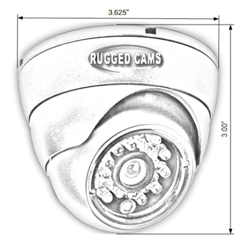 i650 dimensions 1 - i700 Indoor Infrared Dome Security Camera