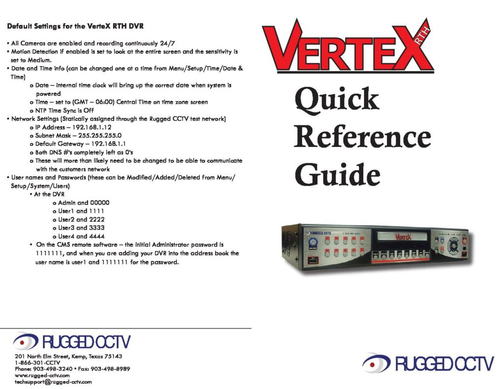 vertexRTH quickreference pdf 1024x791 - N-Spex Systems ready for freight pickup. Rugged Cams ships these systems all over the world.