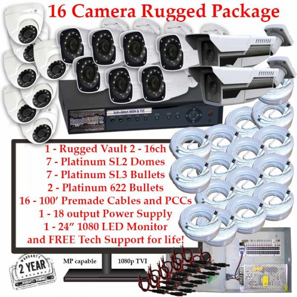 rugged package 16cam 600x600 - 16 Camera HD over Coax (TVI) Package