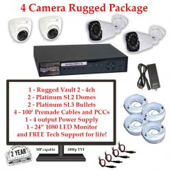 rugged package 4cam 247x247 - 4 Camera HD over Coax (TVI) Package