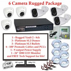 rugged package 6cam 247x247 - 6 Camera HD over Coax (TVI) Package
