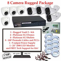 rugged package 8cam 256x256 - 8 Camera HD over Coax (TVI) Package