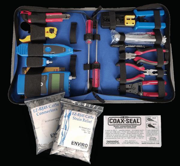 Large cat5 tool kit 600x553 - Large Professional Tool Kit Cat5e