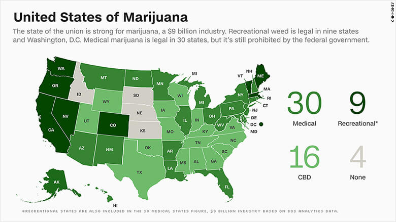 marijuana by state2 - Marijuana Growing Facilities & Dispensaries