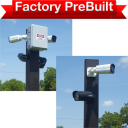 """dual lane 2 pole system 128x128 - <strong class=""""red"""">Dual Lane</strong> Entry or Gate System <strong class=""""red"""">2 Poles</strong>"""