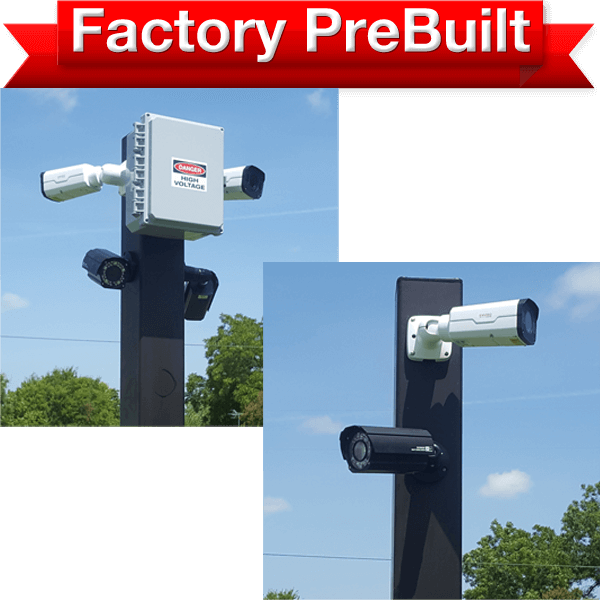 """dual lane 2 pole system 600x600 - <strong class=""""red"""">Triple Lane</strong> Entry or Gate System <strong class=""""red"""">2 Poles</strong>"""