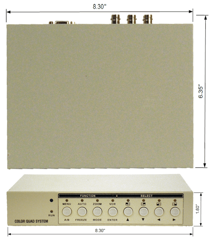 hdqp dimensions lg - HD-TVI 1080p<br>Quad Processor