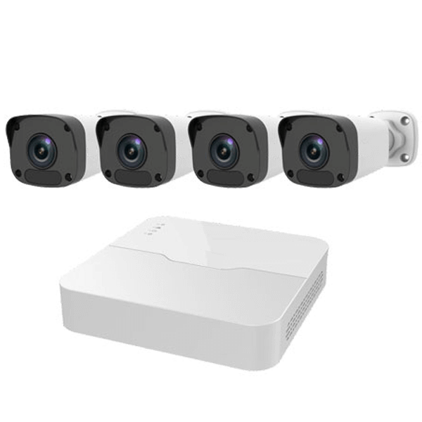 4 channell nvr kit - 4 Camera IP Camera System