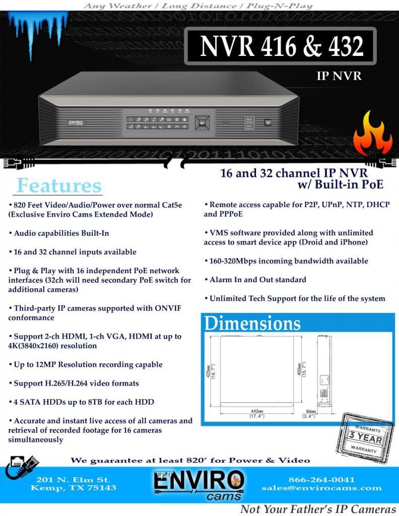 NVR416SpecPage1 792x1024 - <b>16 & 32 Channel</b><br>NVR's