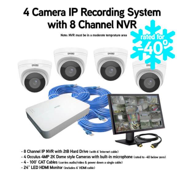 4 Camerq IP Video & Audio Recording