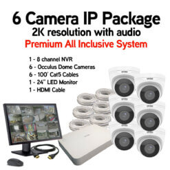 6 Camera IP Package with Audio